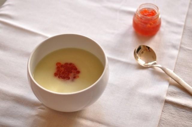 суп с красной икрой